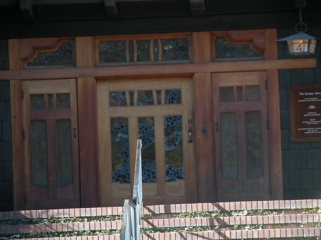 The Gamble House front door.