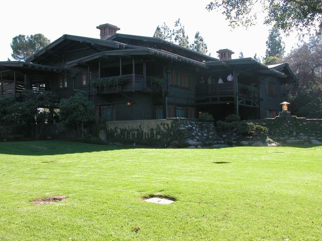 Gamble House backyard