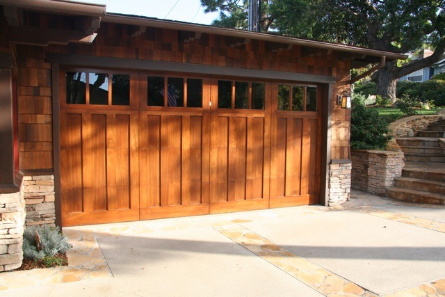 Craftsman Style Garage Doors Garage Traditional With Garden Path