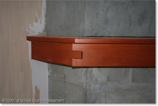 Craftsman Mahogany Fireplace Mantel