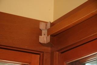 craftsman remodel craftsman curtain rod bracket installation. Black Bedroom Furniture Sets. Home Design Ideas