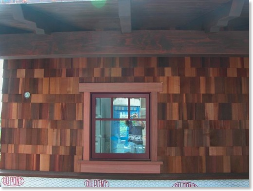 Craftsman cedar shingles are very colorful