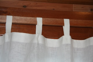Craftsman curtain tabs