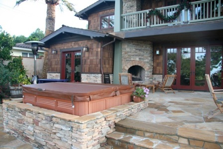 Craftsman hot tub stone door