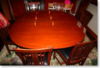 Craftsman mahogany and ebony table