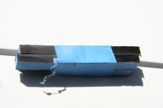 Curtain rod bracket ebony plugs