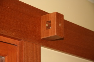Installed curtain rod bracket