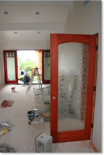 Interior Craftsman door with Delta glass