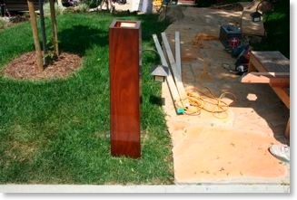 Craftsman mahogany mailbox post