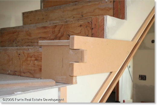 MDF Craftsman staircase mockup