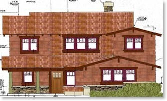 Artist Rendition - Front of Craftsman house
